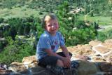 August 2010 - Kyler at the top peak in Palmer Park