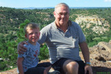 August - Kyler and Grandpa Boyd on top of Palmer Park