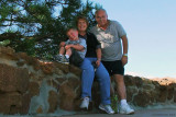 August 2010 - Kyler with Grandma and Grandpa Boyd on top of Palmer Park