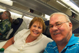 August 2010 - Karen and Don on Delta flight 2524 A330-323X N818NW nonstop from HNL to ATL