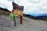 August 2010 - Karen at Cottonwood Pass over the Continental Divide at 12,126 feet