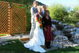 September - our niece Lisa Marie Criswell Law, Creed Law, Karen's brother Jim and his wife Kathy at Lisa's wedding in Utah
