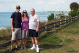 November - Creed Law, our niece Lisa Marie Criswell Law and Don at Cape Florida State Park