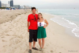 November - Creed and Lisa Marie Criswell Law on Miami Beach after their cruise ship docked a couple of hours earlier