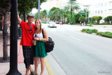 November - Creed and Lisa Marie Criswell Law on Washington Avenue, South Beach after their cruise ship docked