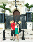 November - Creed and Lisa Marie Criswell Law in front of the Versace mansion on South Beach