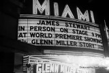 1954-world premiere of The Glenn MIller Story with appearance by Jimmy and Gloria Stewart at the Miami Theatre downtown Miami