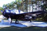 November 2010 - Karen with a Grumman TBM Avenger at Naval Air Station Jacksonville