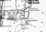 1925 - Map of south end of Miami Beach, Port of Miami, Venetian Islands, Biscayne Bay
