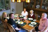 December 2010 - Donna, her fiance' Jonathan Perez, Karen, Esther and Don at Christmas dinner