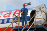 January 2011 - Kev Cook with an American B757 at Miami International Airport