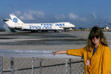 March 1992 - Brenda at the Pan Am maintenance base at Miami International Airport 3 months after they died