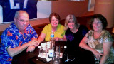 September 2012 - Don and Karen Boyd, Brenda and Linda after dinner, beers and great conversations at Shula's 2 in Miami Lakes