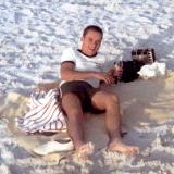 1969 - Don Boyd on Clearwater Beach in the late afternoon