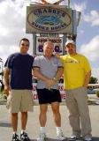 November 2004 - Carlos Borda, me and Kevin Cook after stuffing ourselves at Crabby's Smoke House