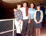 1966 - Unknown, Bob Zimmerman, me and Becky Wilkerson of Whitesville, Kentucky in Mammoth Cave