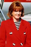 1991 - Sarah,  Duchess of York (Sarah Margaret Fergie Ferguson) at Miami International Airport