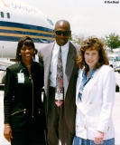 Early 90's - NBA Superstar Michael Jordan with Diane Dean and Annette Fox