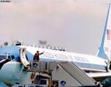1989 - President George H. W. Bush and Ileana Ros-Lehtinen at Miami International Airport