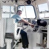 1967 - pretending to be a Boatswains Mate on CG Motor Life Boat CG-44371 at CG Station Lake Worth Inlet, Peanut Island