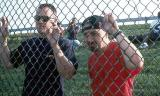 2000 - Joe Pries and Kevin Cook outside the fence at JFK
