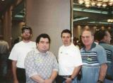1998 - Bill Hough, Geert Marien, Kev Cook and Don Boyd in Newark, New Jersey