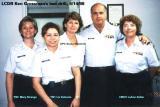 1998 - YNC Mary Strange, YN1 Liz Valencia, DPC Sonia Meistrell and CWO2 LuAnn Kellar with LCDR Kenny Grossman, USCGR