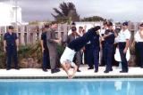 Early 80's - Aviation Electronics Technician Senior Chief Jim Walters getting rewarded for his promotion #2