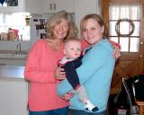 February 2006 - Brenda, Kyler and Karen at Brenda's home