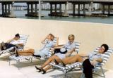 (Forgotten name), YN2 Karen Sherfick, YN1 Karen Fraser and YN2 Kay Gonzalez laughing at something horrible at CGRU Miami IV