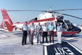 1989 - CDR Brad Herter, current CO (left) with former CO's of Coast Guard Reserve Unit Air Station Miami