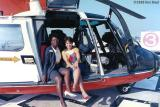 1989 - YN3 Cynthia R. Murray (left) and HS3 (need name) with USCG HH-65A #CG-6556 at Miami International Airport