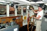 2006 - CDR Clay Drexler, USCGR (RET) on the bridge of the USCGC GENTIAN (WIX 290) at Base Miami Beach