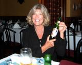 May 2006 - Brenda enjoying a Presidente beer at El Segundo  Viajante in Hialeah