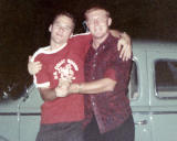 1967 - Don and Ray Kyse saying goodbye the night before he left for Viet Nam