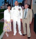 2006 - Gina Pino (Ed's wife), CDR (Captain selectee) Ed Pino and Roberto Cabrera, Gina's father