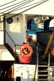 June 2006 - Karen onboard the USCGC GENTIAN (WIX 290) after decommissioning ceremony