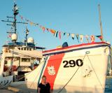 2006 - Karen in front of the USCGC GENTIAN (WIX 290) after her decommissioning ceremony