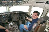 2006 - Ben Wang in the cockpit of USAF C-32A #80001 used as Air Force Two