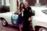 1968 - Sharon Willis and Don after driving in the Veteran's Day Parade in downtown Tampa
