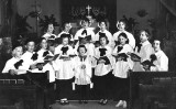 1954 - the childrens choir at St. Philips Episcopal Church in Coral Gables