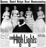 1958 - the Homecoming Court at Coral Gables High School