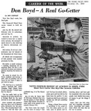 1960 - Don Boyd Miami News Carrier of the Week article