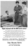 1960 - Miami News advertisement with Dr. and Mrs. Berge Markarian and Don Boyd