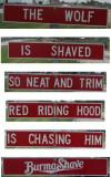 Burma Shave road signs