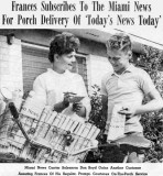 1962 - Frances Wodzinski and Don Boyd in a Miami News advertisement