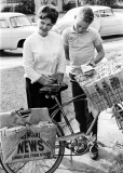 1962 - Frances Wodzinski and Don Boyd, age 14, posing for advertisement - not used in paper