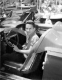 1963 - Don Boyd in a new 1963 Thunderbird at the Miami Auto Show