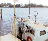 1967 - Don on Coast Guard CG-40485 at USCG Station Lake Worth Inlet