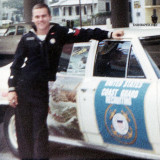 1968 - Don and USCG Recruiting car used in Veterans Day Parade in Tampa